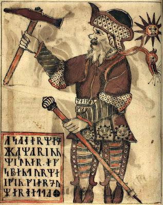 thor 18th century icelandic manuscript runes hammer axe stick pole belt mjolnir mjollnir